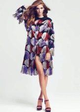 Модное цветное платье сезона осень-зима 2016 года