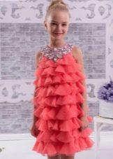 Нарядное платье для девочки 8-9 лет коктейльное