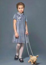 Нарядное платье для девочки 8-9 лет бархатное