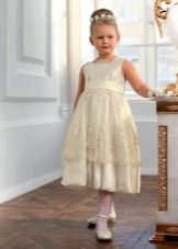 Нарядное платье для полной девочки А-силуэта