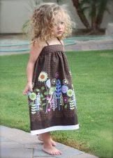 Нарядное платье-сарафа с цветочным принтом для девочки