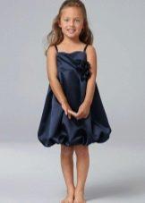 Нарядное платье-баллон для полной девочки