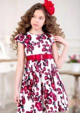 Нарядное платье для девочки короткое цветное