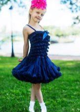 Нарядное платье с юбкой американкой для девочки