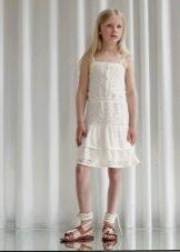 Нарядное платье-сарафан кружевное  для девочки