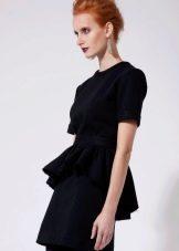черное платье из футера