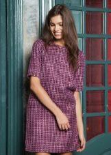 маленькое лиловое платье из твида