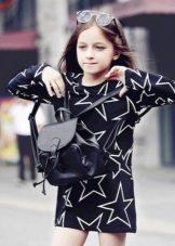 Платье короткое прямое для девочки 11 лет