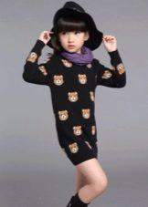 Платье-свитер для девочки 11 лет