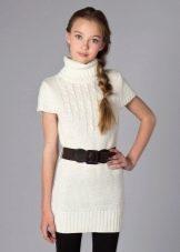 Платье-свитер в школу для девочки 11 лет