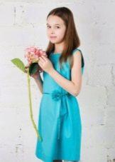Короткое платье повседневное для девочки 11 лет