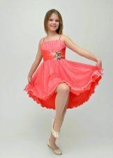 Платье для подростка розовое