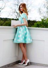 Платье для подростка бирюзовое