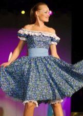 платье из бязи с летящим силуэтом