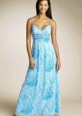 платье из бязи с этническим орнаментом
