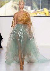 платье из органзы природных цветов