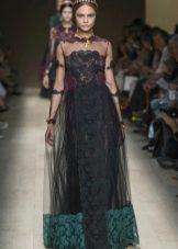 комбинированное платье из органзы