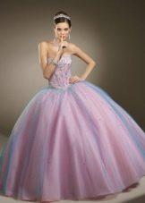 платье из органзы с пышной юбкой
