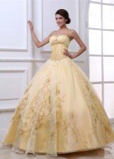 оригинальное свадебное платье из органзы