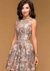 парчовое  коктейльное платье