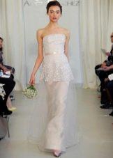 изысканное свадебное платье из парчи