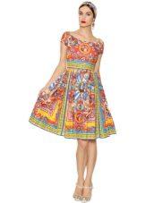 платье из поплина с орнаментом