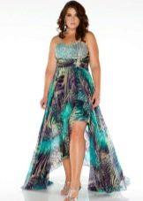 каскадное платье из поплина