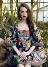 платье из поплина с цветочным принтом