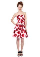 поплиновое платье в красных цветах
