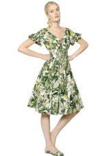 летнее поплиновое платье до колена