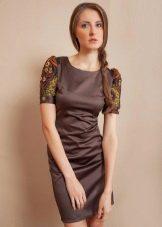 сатиновое платье на каждый день