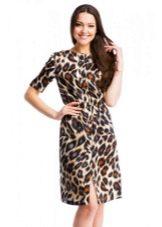 платье из сатина с животным принтом