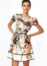 летнее платье из сатина