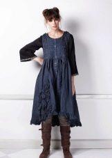 Рубашка к  джинсовому платью-сарафане