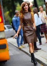 Обувь к офисному кожаному платью