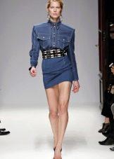 Пояс к джинсовому платью-рубашке