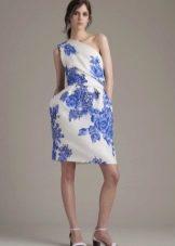 Обувь к бело-синему платью