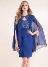 легкая накидка к синему платью