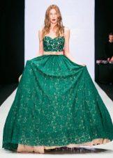 Пояс к длинному зеленому платью