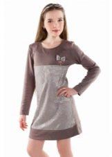 Трикотажное праздничное платье для девочки мини