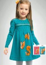 Трикотажное платье для девочки в детский сад