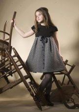 Трикотажное праздничное пышное платье для девочки