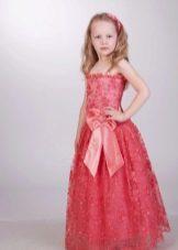Выпускное платье в детский сад красное в пол