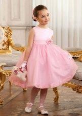 Выпускное платье в детский сад розовое пышное