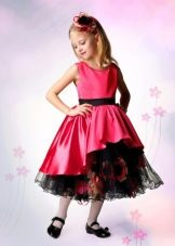 Выпускное платье в детский сад красное
