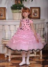 Выпускное платье в детский сад розовое а-силуэта