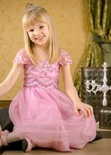 Выпускное платье в детский сад розовое с рукавами