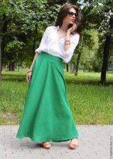 летняя юбка с широким поясом