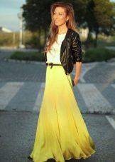 легкая юбка-макси