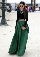 летняя длинная юбка высокой посадки